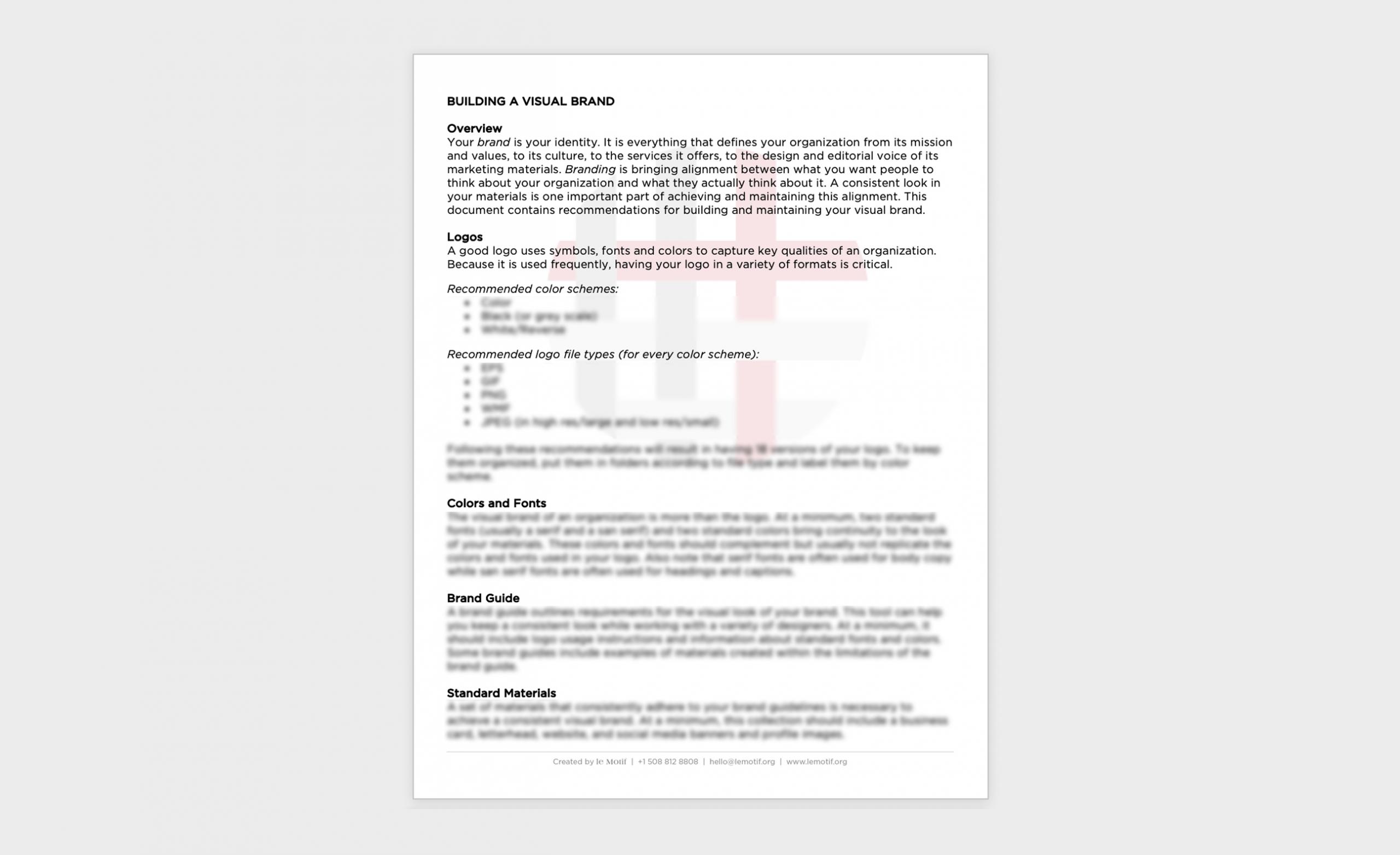 Visual Brand Checklist